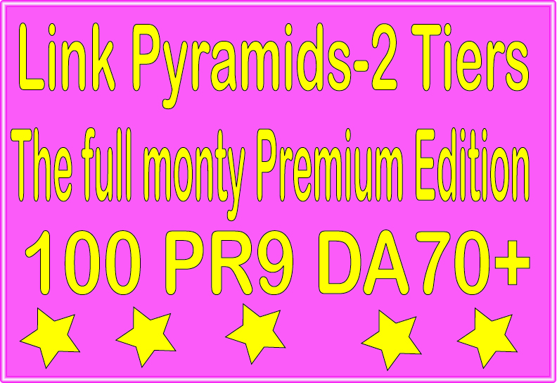 Ultimate Rank Booster- 100 PR9 - DA 70+ & The full monty Premium Edition Tiered Backlinks For SEO