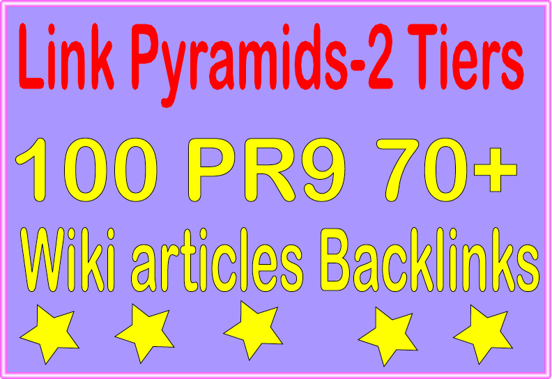 Perfect Package Pyramids -6000 Wiki articles & 100 PR9 - DA 70+ Tiered Backlinks For SEO