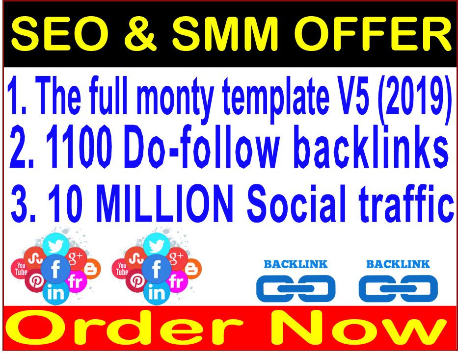 Branded Foundation Backlinks- 1100 Do follow-The full monty & 10 Million social traffic