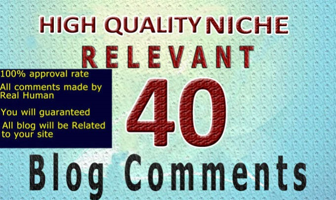 do 40 niche relevant manually blog comments links