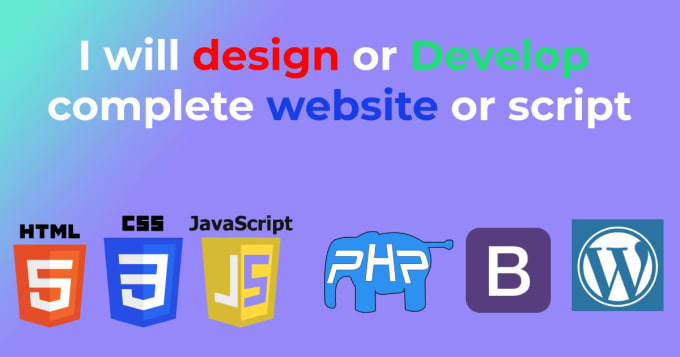 I will develop a PHP website php script for you