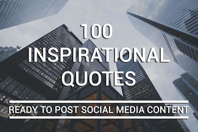 100 Inspirational Image Quotes for Social Media
