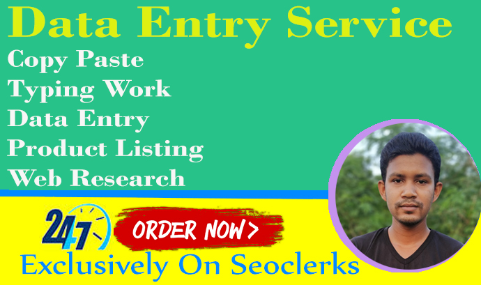 I will do fastest excel data entry, copy paste job, typing data entry