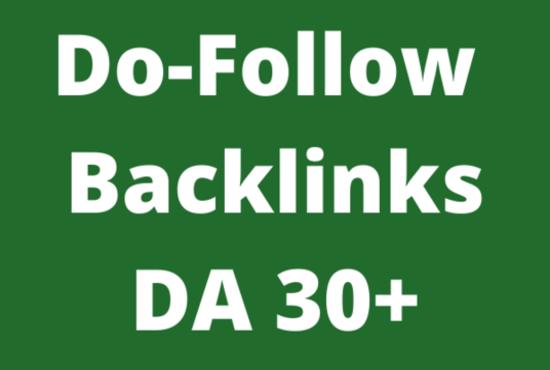 I WILL create 10 backlinks of DA (Domain Authority) 30+
