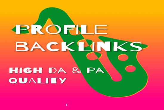 I will create manual 40 social networks profiles SEO high backlinks
