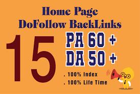 Do 15 pbn links high da pa lifetime homepage dofollow links