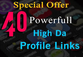 Create 40 powerful high da profile links