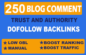 Create 250 manual dofollow blog comments backlinks