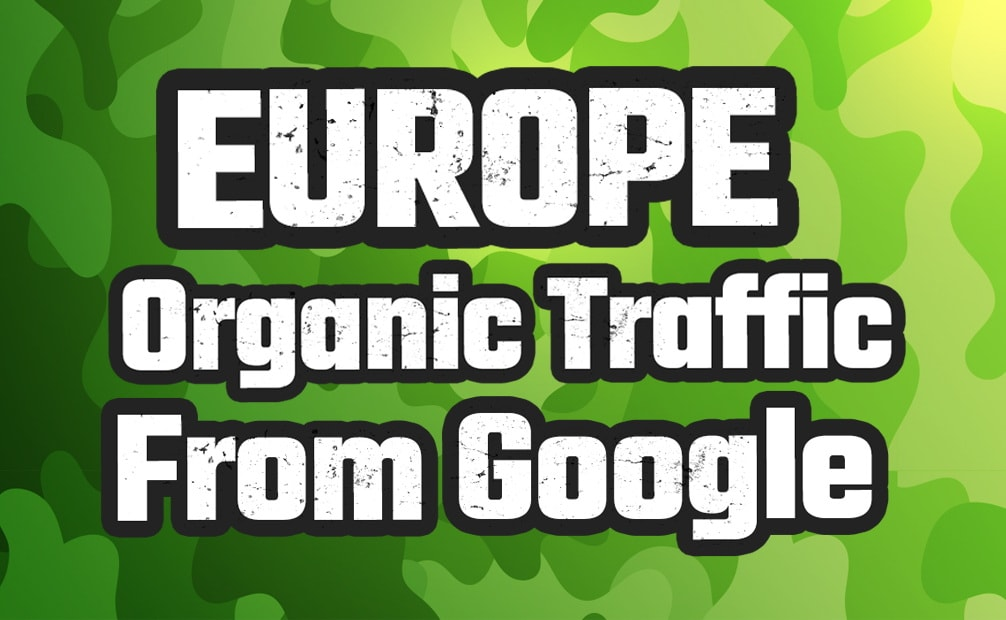 I will drive europe organic traffic from google