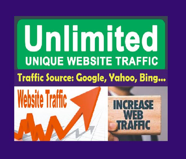 UNLIMITED UNIQUE WEBSITE TRAFFIC Worldwide