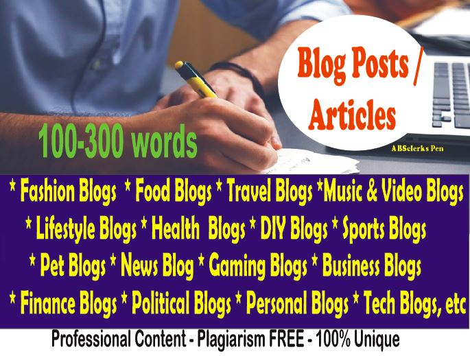 Expert SEO Content Writer - Writes Articles/ Blog Post/ News/ Rewriting