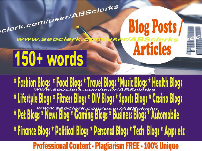 Expert SEO Content Writer - ARTICLE writing/ BLOG POSTS/ News/ REWRITING/ website content