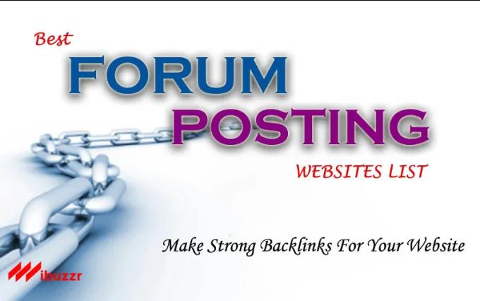 50 forum posting seo backlinks