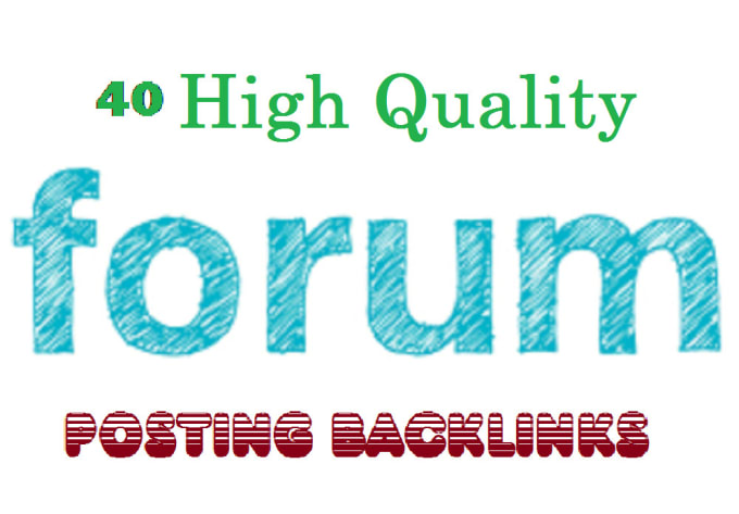 post your site link on 40 good forum posting sites in a day