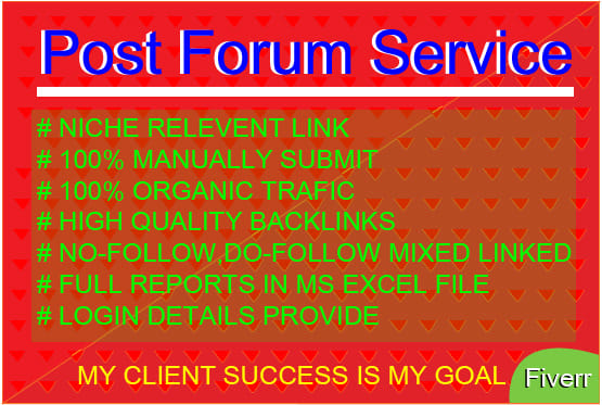 I will HQ 20 Forum Posting SEO Backlink