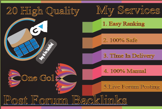 Do HQ 60 HQ Forum Posting Backlink For Easy Ranking Your Site
