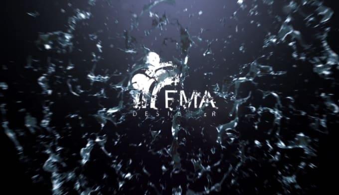 I will water splash logo reveal
