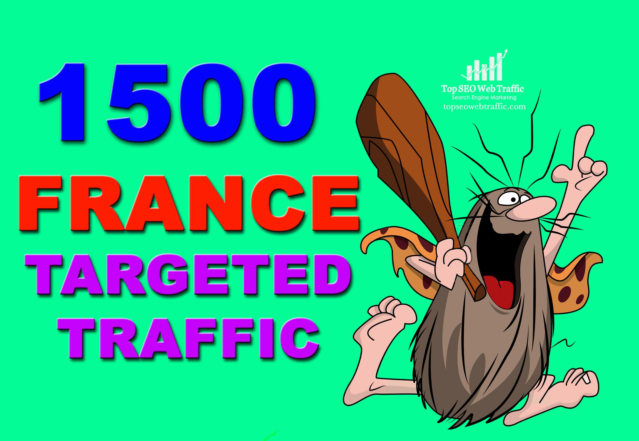 GET 1500 HIGH QUALITY UNIQUE FRANCE WEB TRAFFIC VISITORS