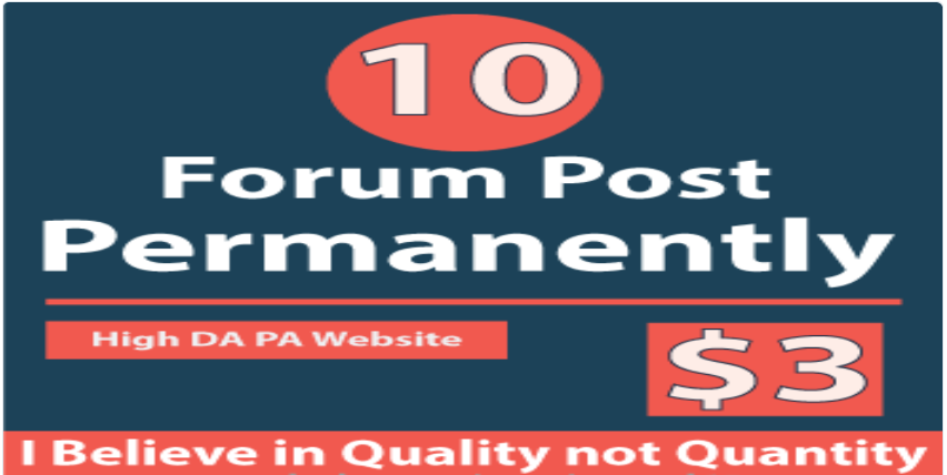 Forum Permanently Post to 10 Forum Post 100% Realistic Service Without Spam