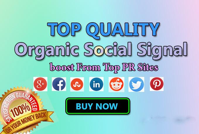 SEO Top Quality Organic Social Signals BOOST
