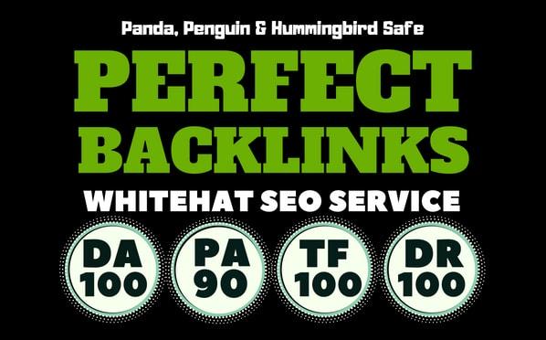 build 100 unique domain SEO backlinks on da100 tf100 sites Plus .EDU Link
