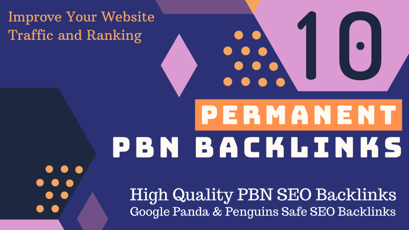 Do 10 High PA DA TF CF Home Page PBN Backlinks - Dofollow Quality Links