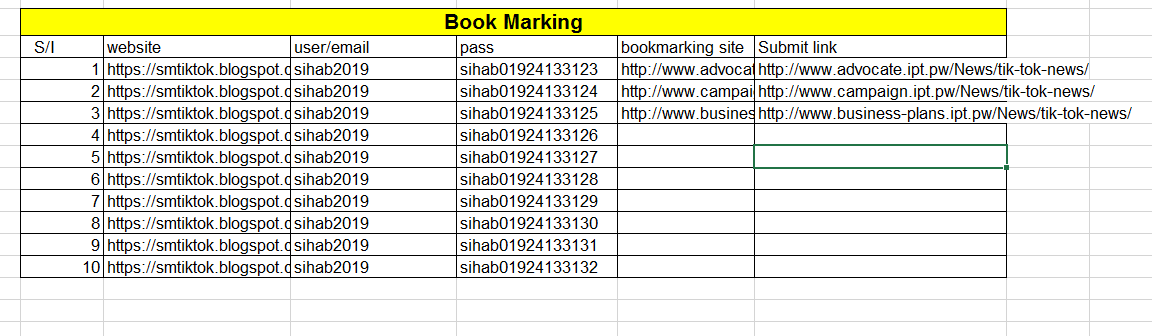 Book Marking for top rank in google