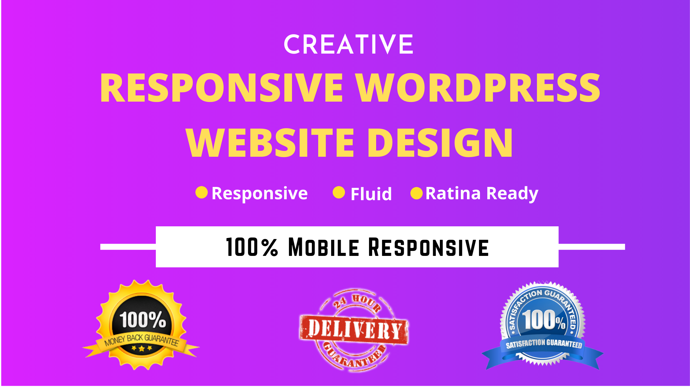 I will develop wordpress responsive website for you
