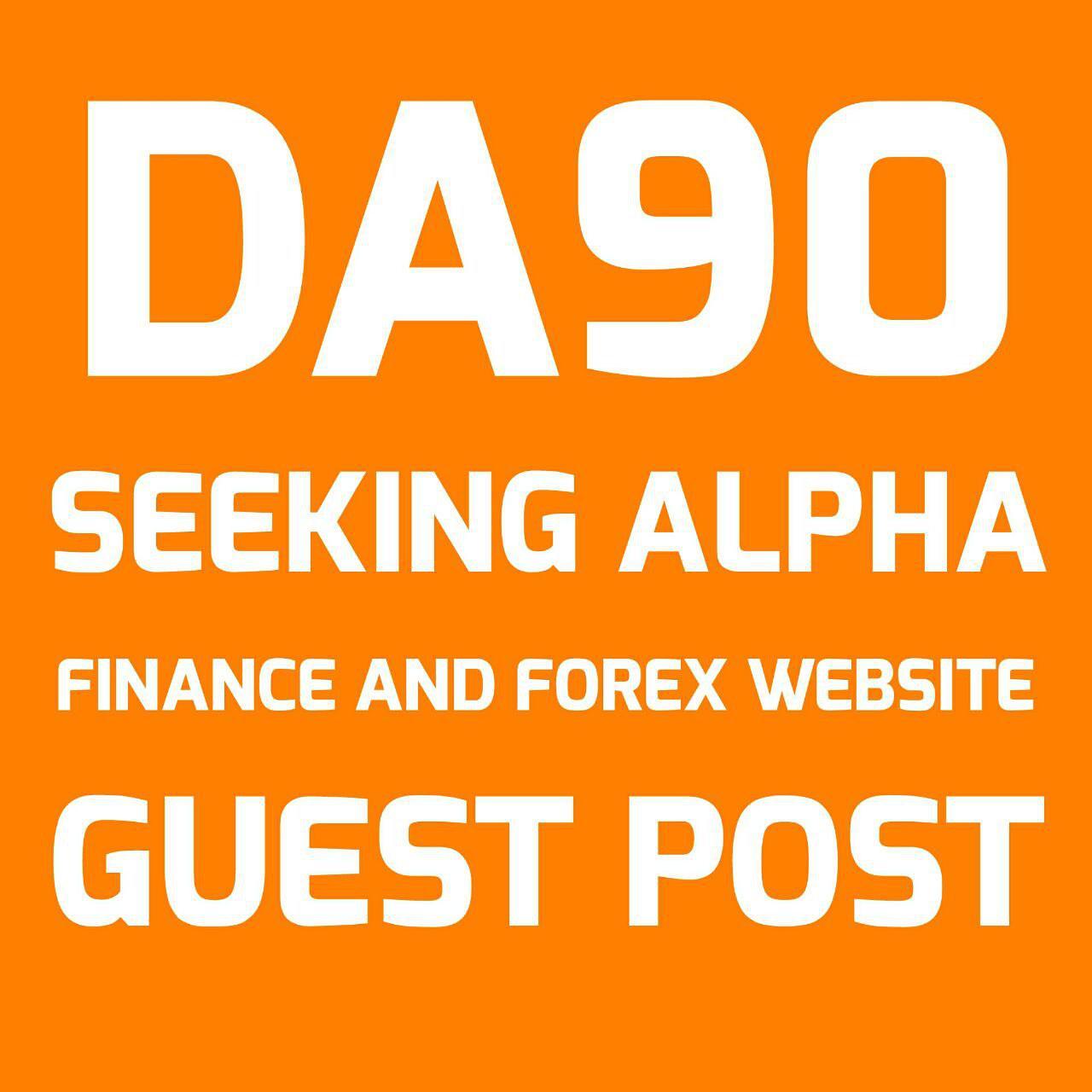 Guest post on seeking alpha da90 finance website