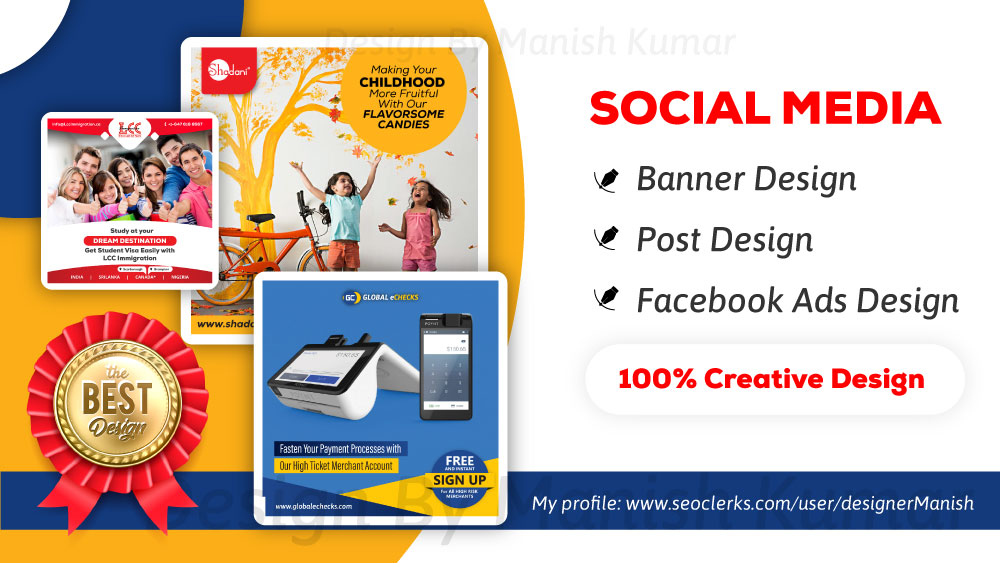 Creative Social Media Post, Banner, Profile Design (Bulk Order)