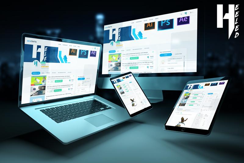 A Monitor/Laptop/Tablet/Smartphone Mockup Set for your Logo Or Website