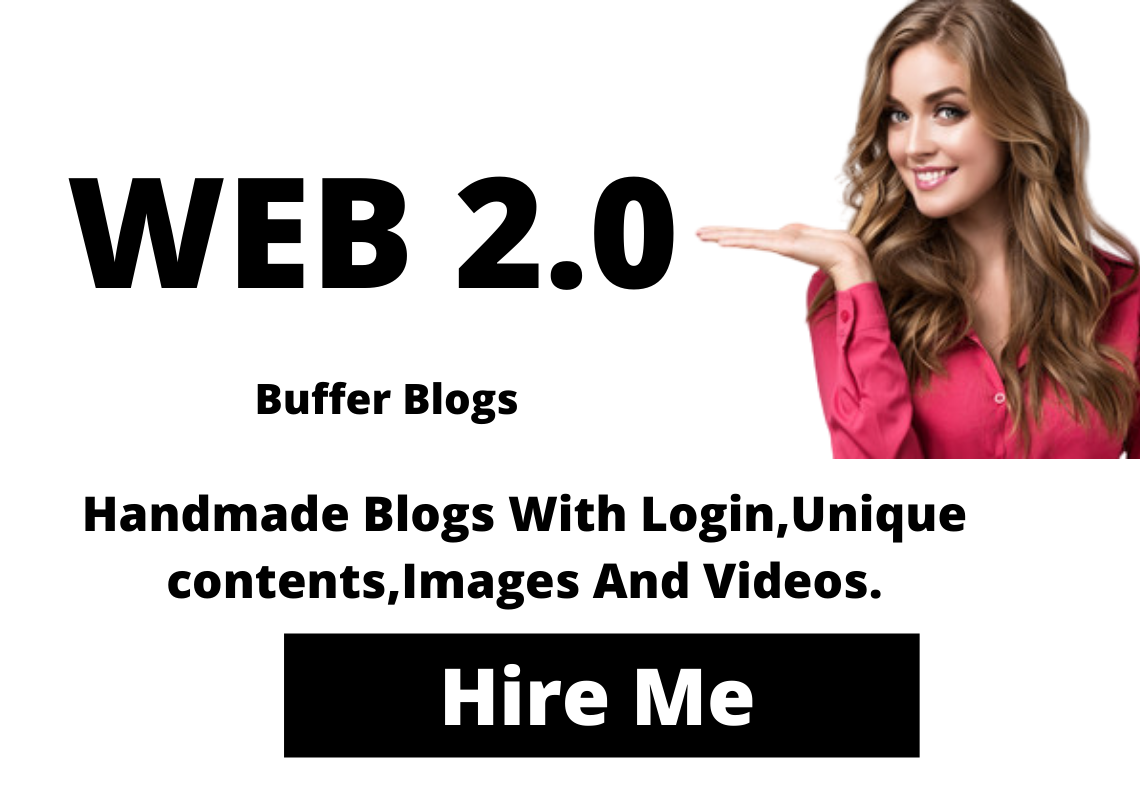 Handmade 33 Web 2.0 Buffer Blogs With Login