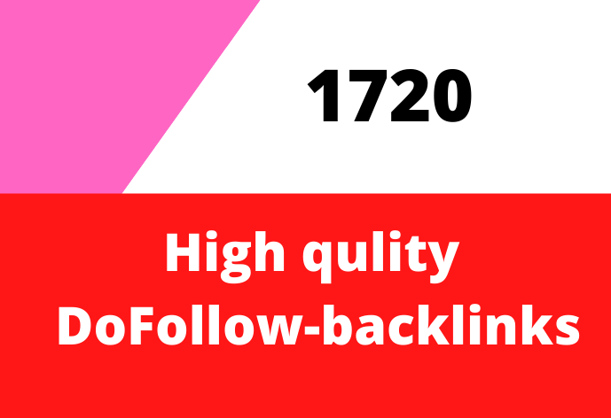 Provide 1720 DoFollow backlinks