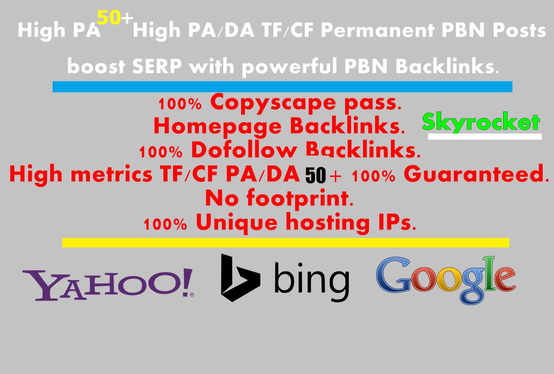 Create 100 High PA/DA TF/CF Homepage PBN Backlinks To Skyrocket you SERP