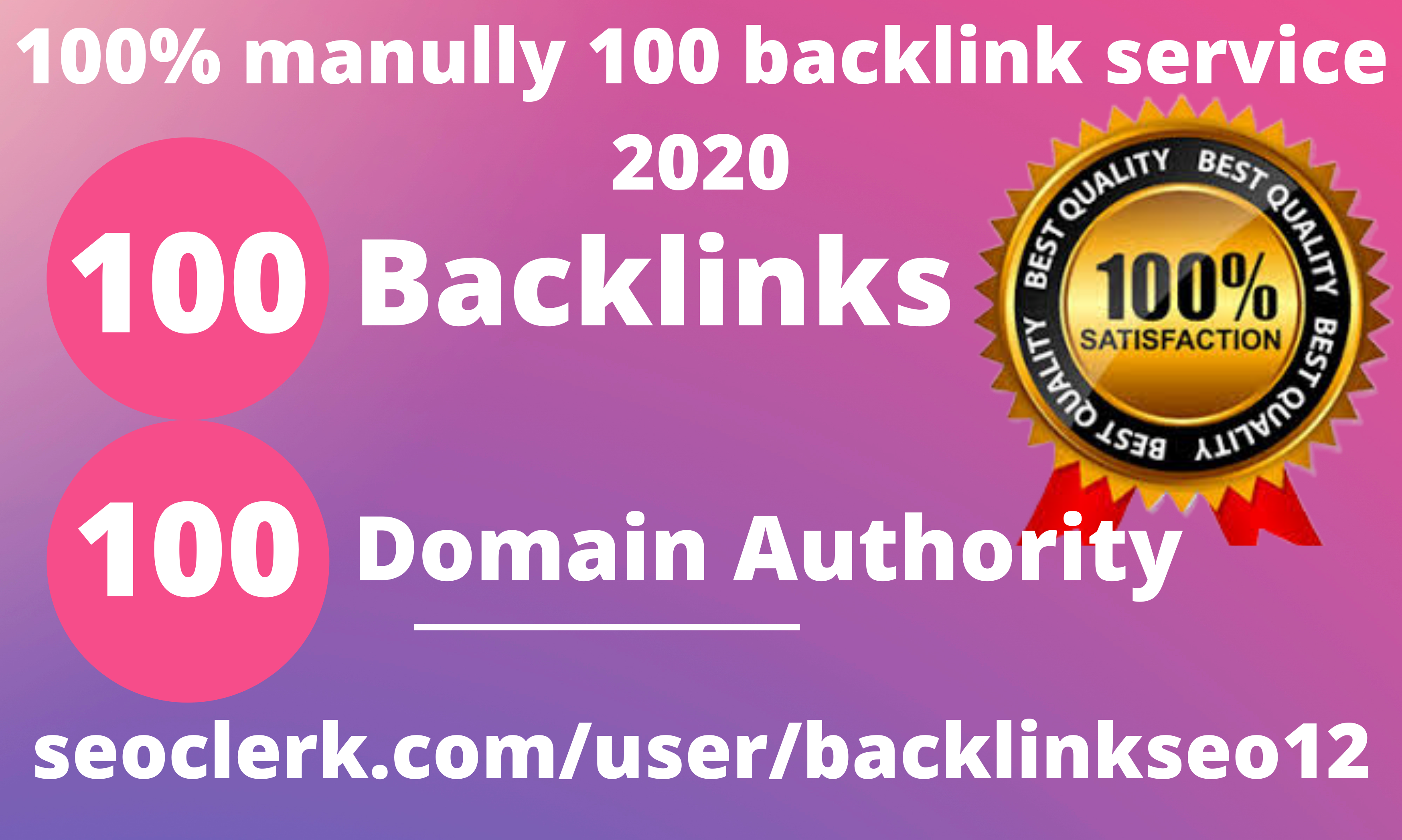 Limited Time- 100 Backlinks from High DA/PA 60+ Domains-Skyrocket your Google RANKINGS