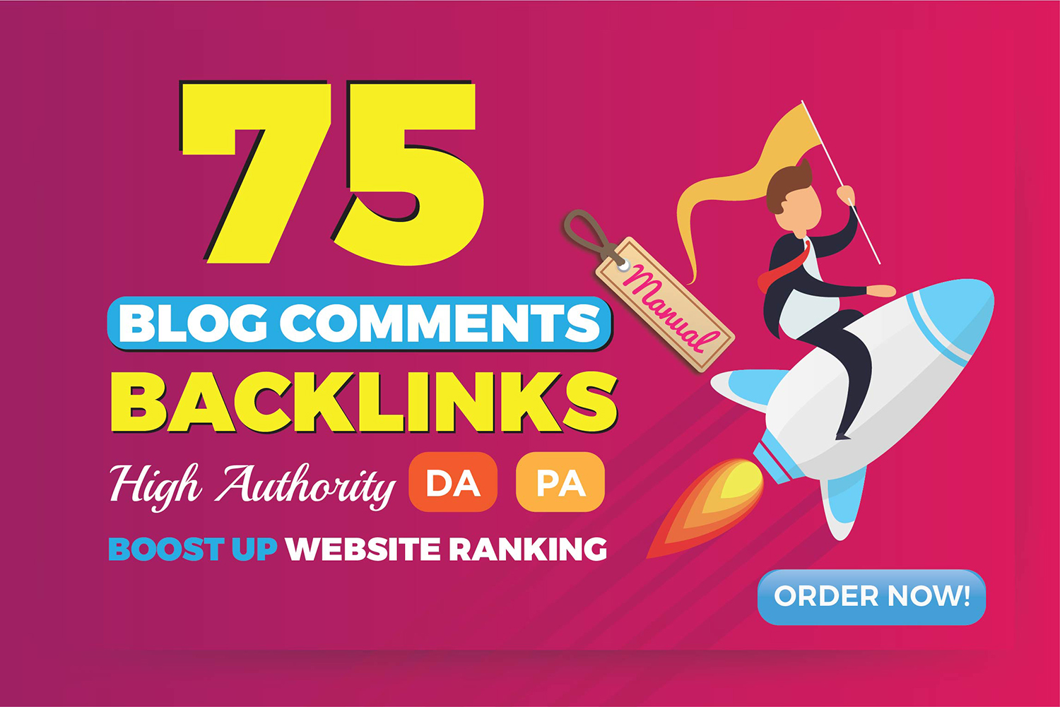 Do 75 Dofollow blog comment Off Page SEO