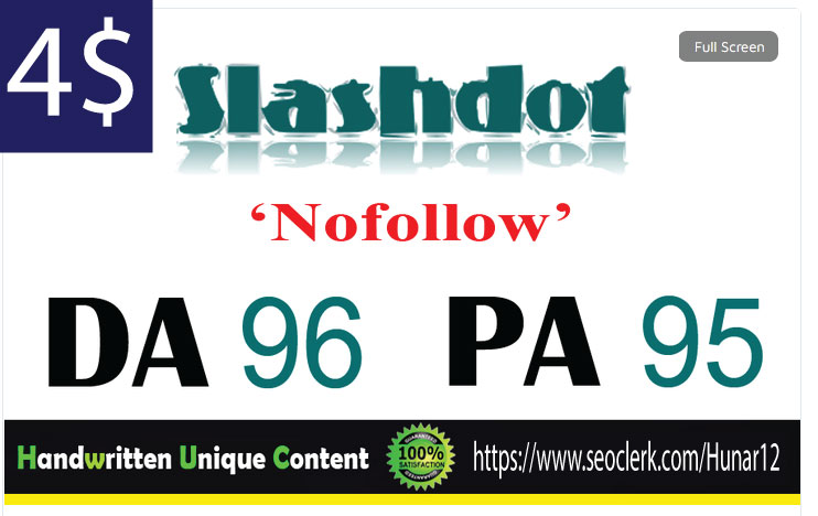 I will publish UNIQUE guest post on Slashdot DA-96