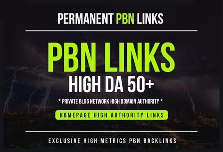 Build 10 PBN DA 50+ With Dofollow & permanent Backlinks