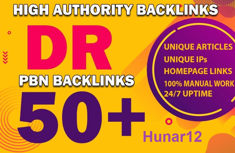 Get 101 DR 50+ homepage permanent PBN Backlinks