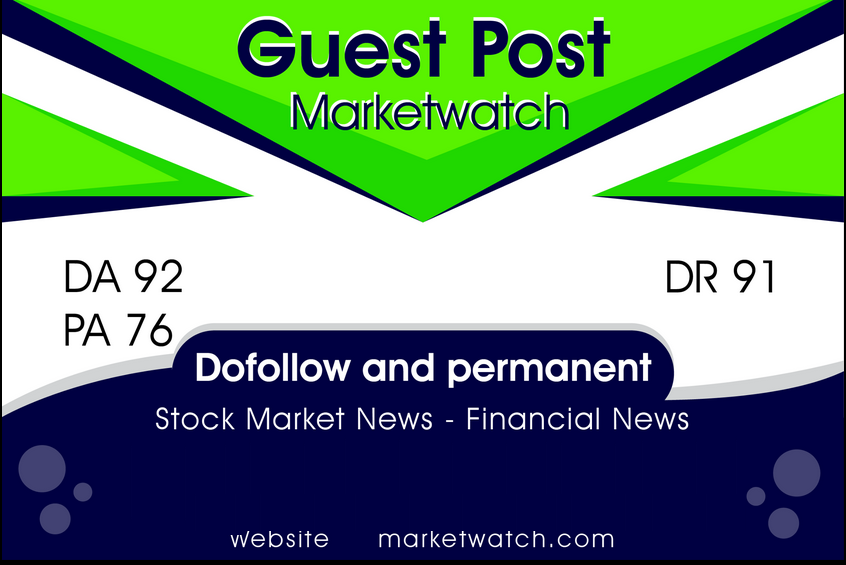 I will do 1 guest post on marketwatch,  press release