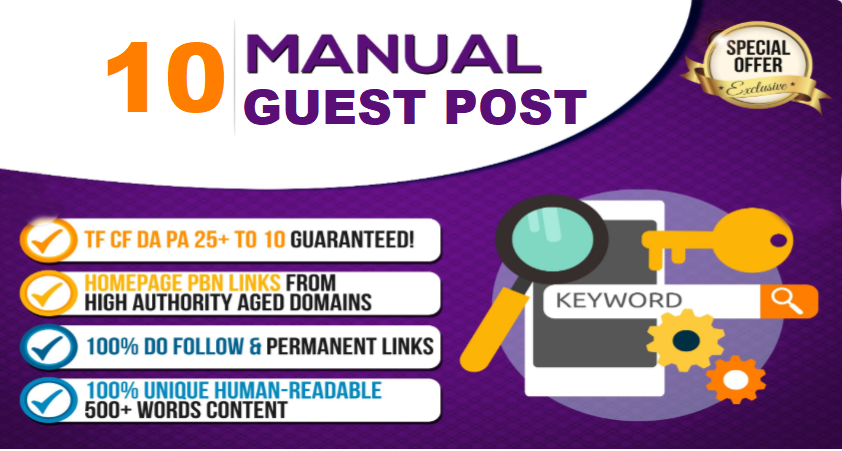 10 Permanent Guest Post Backlinks High Da Aged Networ...