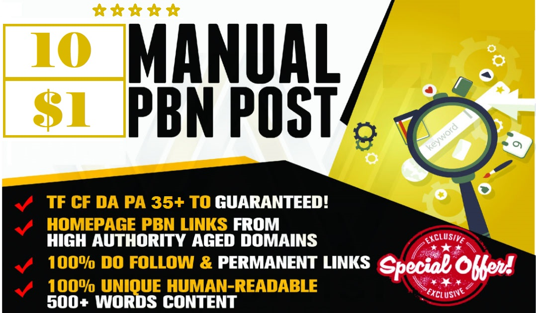 10 website pbn Dofollow Backlinks DA 35+ PA 35+ Google Index Site