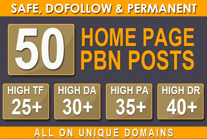 50 Web 2.0 PBN DA 35+ PA 35+ SEO Backlinks in Unique 50 website Link