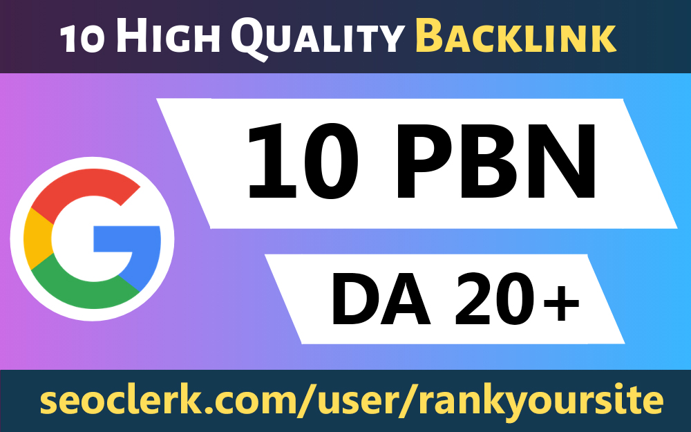 Build 10 Dofollow Homepage PBN Backlinks High Quality Backlinks