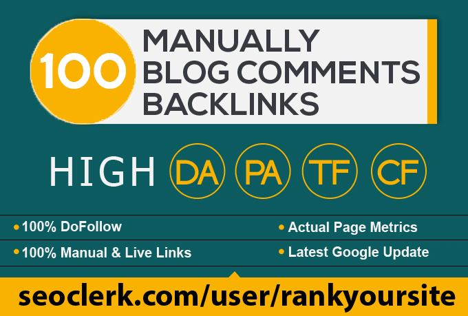 provide 100 dofollow blog comment seo backlinks