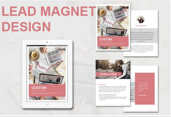 Design your lead magnet,  workbook,  ebook and pdfs
