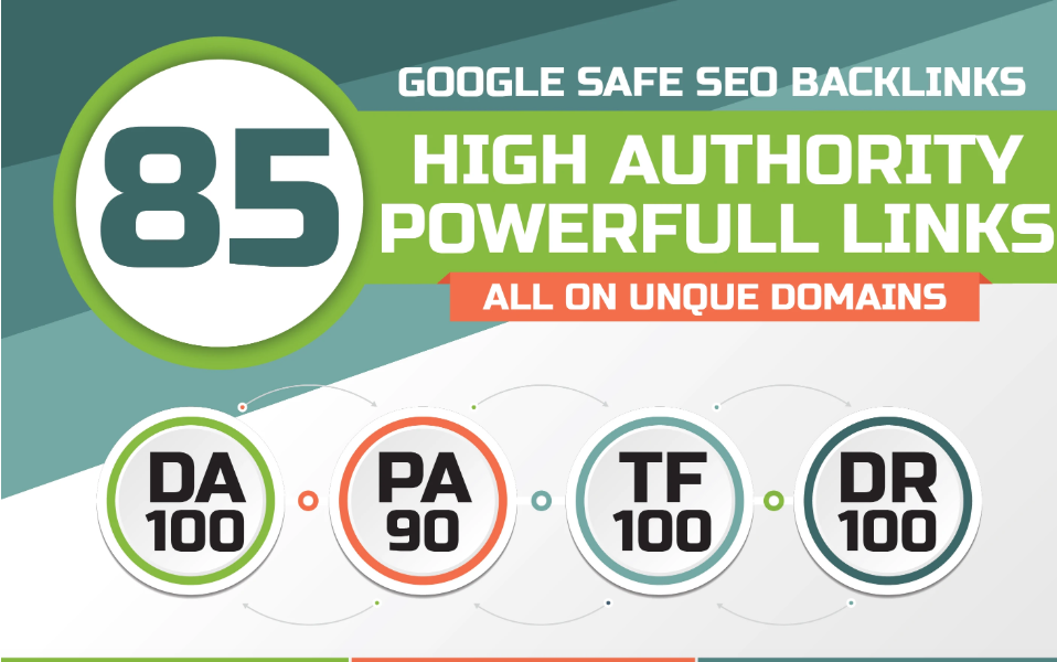 85 unique domain SEO backlinks on TF100 DA100 sites - RANK BOOST