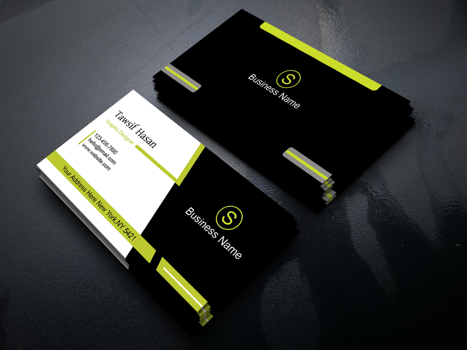 Create 4 Different Business Card Design