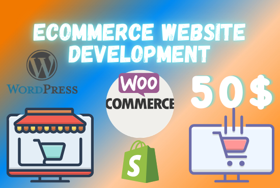 I will build online ecommerce store or WordPress woocommerce website
