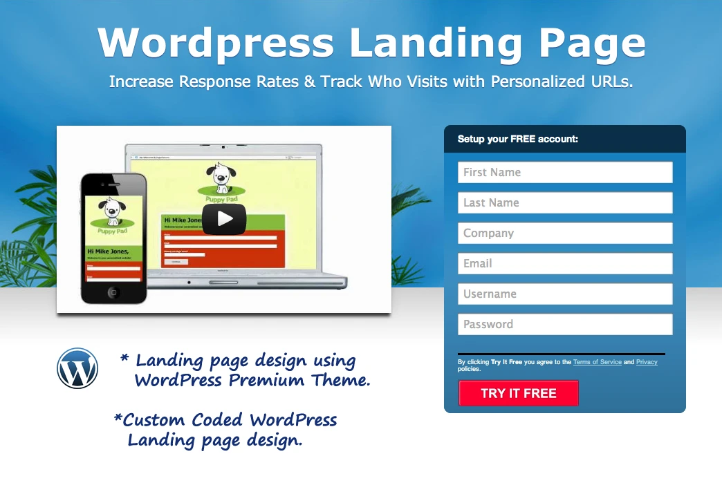 Create Beautiful Landing Page in WordPress